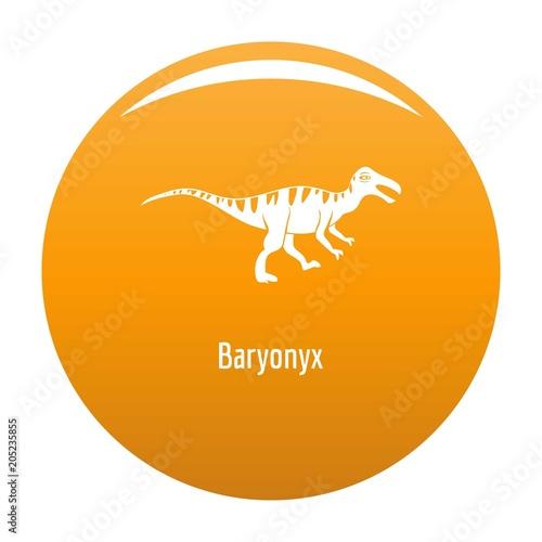 Baryonyx icon. Simple illustration of baryonyx vector icon for any design orange