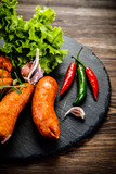 Raw sausages with and vegetables - 205242048