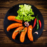 Raw sausages with and vegetables - 205242072