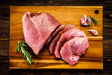 Raw pork on cutting board - 205242658