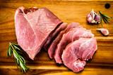Raw pork on cutting board - 205242677