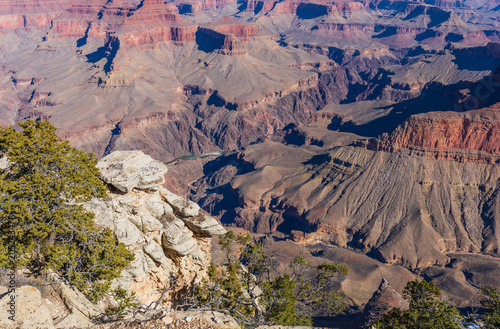 Fotobehang Donkergrijs Grand Canyon South Rim Scenic Landscape