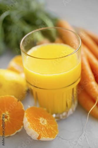 Orange and carrots juice