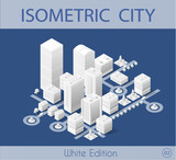 The isometric city with skyscraper - 205248208