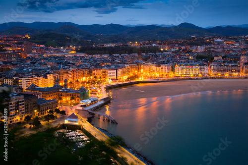 San Sebastian in night