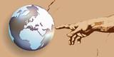 terre - création - concept - Dieu - main - globe - monde - croyance - religion - créer, humanité - 205249614