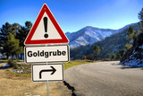 Schild 287 - Goldgrube - 205251648