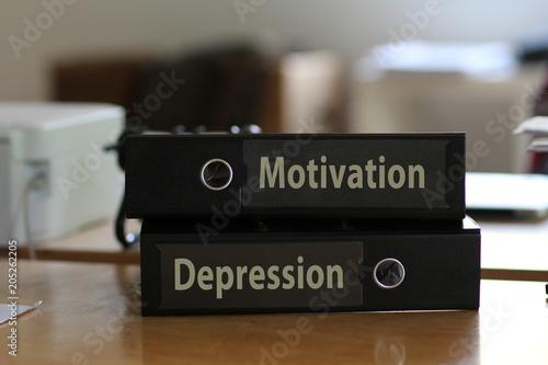 Fototapeta Ordner Motivation & Depression
