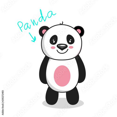 Fototapeta cute vector panda