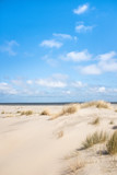Dünenlandschaft Nordsee mit Horizont, hochkant