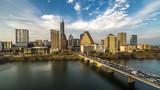 MARCH 2, 2018, AUSTIN, TEXAS - Austin Cityscape Evening Skyline with skyscrapers down Congress Avenue Bridge over Colorado River - 205289459