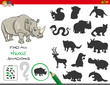 shadows game with rhinoceros characters