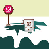 404 error page not found website board construction vector illustration