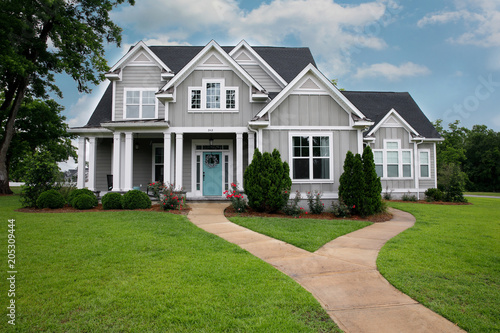 New and Modern colorful Craftsman Cottage House with Curb Appeal