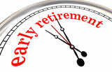 Early Retirement Clock Countdown Words 3d Render Illustration - 205314058