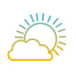 sun and cloud weather vector illustration design