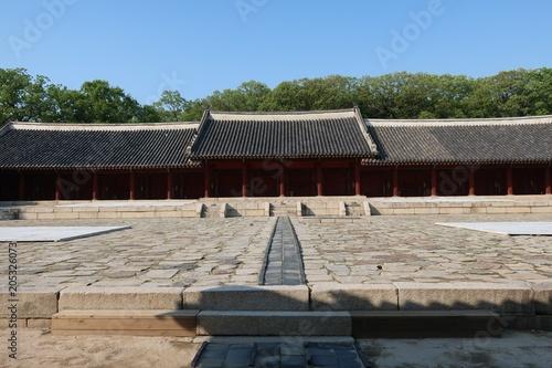 Plexiglas Seoel Jongmyo Shrine in korea