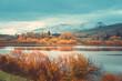 Autumn in Lake Hayes, Queenstown New Zealand landscape