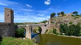 Alcantara Bridge, view from the defensive walls of Toledo
