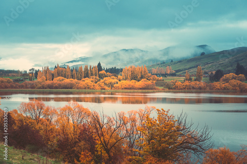 Autumn in Lake Hayes, Queenstown New Zealand landscape