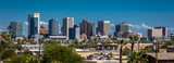 AUGUST 23, 2017 - PHOENIX ARIZONA - Panoramic skyline view of Phoenix downtown - 205330889
