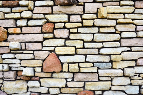 Canvas Stenen Ancient stone wall to use as background.