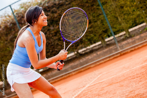 Plexiglas Tennis Woman playing tennis