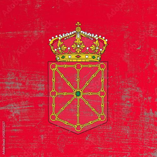 scratched Navarra flag