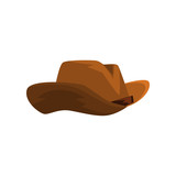 Brown cowboy hat vector Illustration on a white background - 205337205