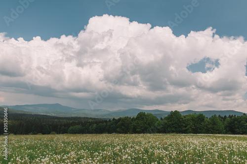 Plexiglas Lente Landscape. Outdoor view.