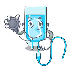 Doctor infussion bottle character cartoon