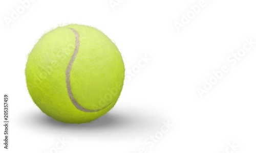 Plexiglas Tennis Tennis balls and rackets on desk