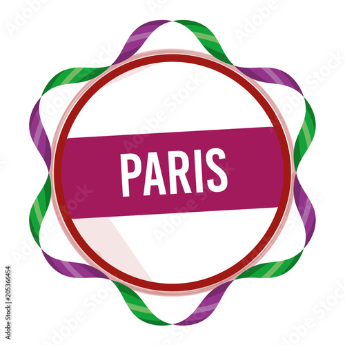 Fridge magnet Paris, Stamp, Symbol