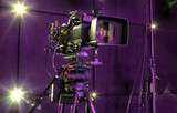 tv camera in a concert hall - 205370271