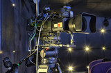 tv camera in a concert hall - 205371046