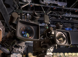 tv camera in a concert hall - 205371865