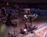 tv camera in a concert hall - 205372478