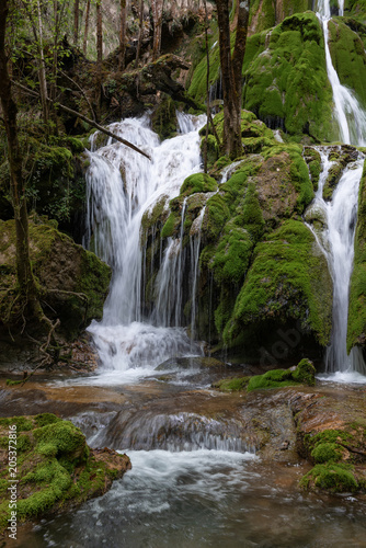 Toberia Waterfalls at Entzia mountain range, Alava, Spain - 205372816