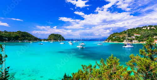 Fotobehang Freesurf Gorgeopus Ionian islands of Greece - Paxos with turquoise waters and picturesque bay