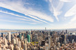 New York aerial view, cityscape from helicopter