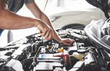 Picture showing muscular car service worker repairing vehicle - 205382466