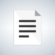 Document Icon or simbol, vector illustration isolated on modern background.