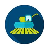 Combine harvester flat icon - 205383239