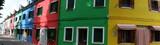 panoramique façades colorées de Burano, Venise