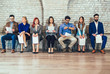 Photo of candidates waiting for a job interview - 205389612