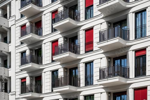apartment building facade -  real estate exterior - modern