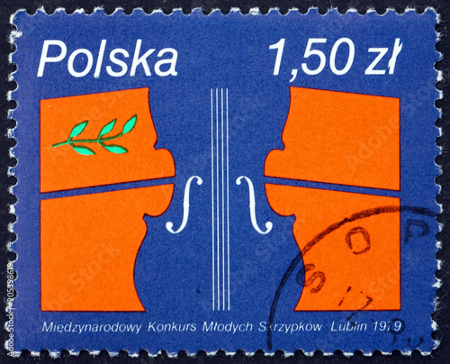 Postage stamp Poland 1979 Young Violinists' Competition