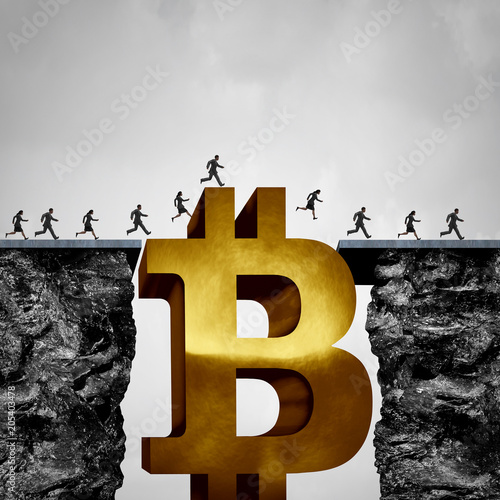 Poster Bitcoin Crypto Currency Opportunity