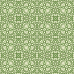 Green Geometric pattern in repeat. Fabric print. Seamless background, mosaic ornament, ethnic style.