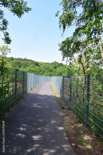Plexiglas Spoorlijn Nettetalradwegsbrücke